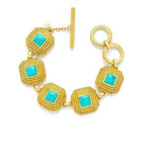 NWT Authentic Julie Vos Genuine Turquoise Luxor Bracelet